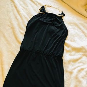 Guess Black Cocktail dress with Gold necklace 2